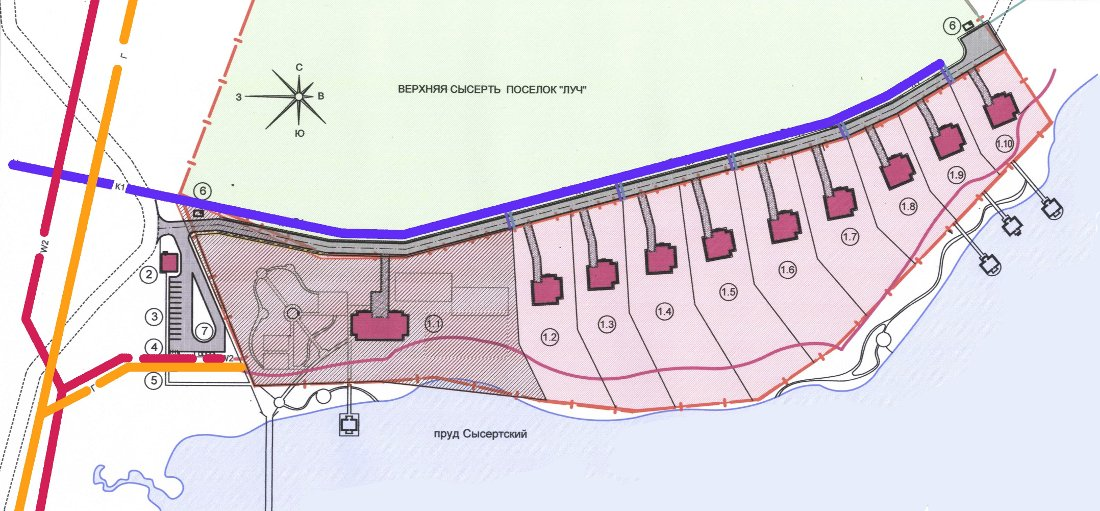 план участков под строительство